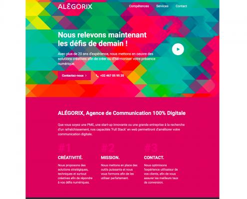 Emailing de présentation Alégorix