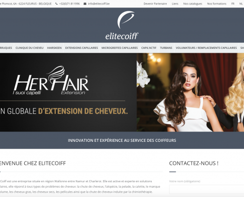Site internet EliteCoiff